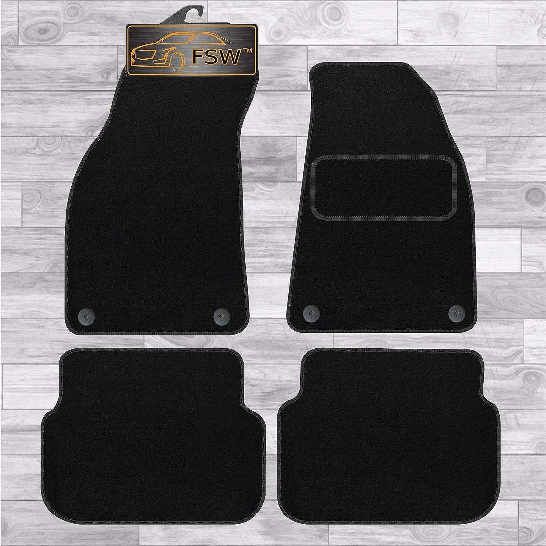 FSW A6 2004-2009 Tailored Carpet Car Floor Mats 4Pc 4 Clip