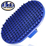 Dog Grooming Brush - Dog Bath Brush - Cat Grooming Brush - Dog Washing Brush - Rubber Dog Brush - Dog Hair Brush - Dog Shedding Brush - Pet Shampoo Brush for Dogs and Cats with Short or Long Hair