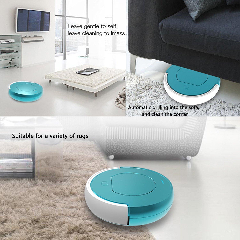 [nueva versión 2018] Mincheda robot aspiradora de múltiples funciones de limpieza de vacío con auto aspirar y limpiar para la familia/habitación de ...