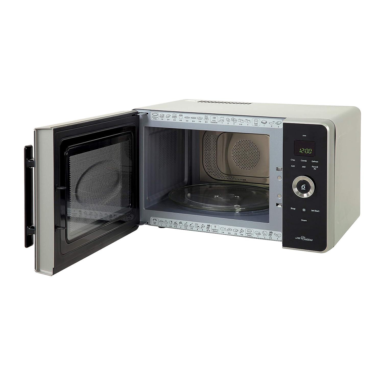 Black//Silver 1000 W Whirlpool F090826 JQ 280 SL Jet Cuisine Combi Microwave