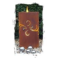 Feuerkorb Corten bronze klein Fire Basket ✔ rund ✔ rostig (Edelrost)