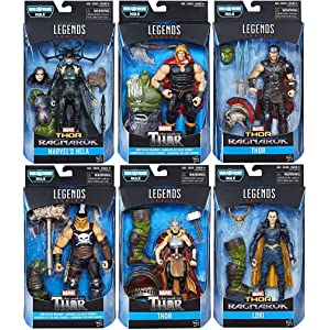 Marvel Legends Thor Ragnarok 6-Inch Action Figures Set Of 6