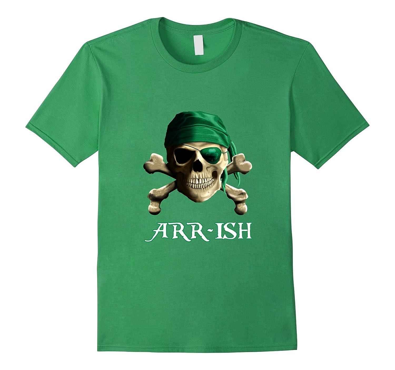 ARRish Funny Irish Pirate Saint Patricks Day Shirt-Art