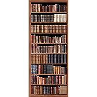 PLAGE Non Woven wallpaper vliesbehang bibliotheek, meerkleurig, 98 x 0,2 x 240 cm
