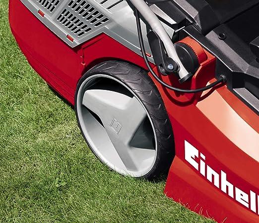 Einhell GE- EM 1843 HW - Cortacésped eléctrico (1800W, altura de corte 6 niveles   25-75 mm , ancho de corte 43 cm, hasta 800m² de jardín, 63L de ...