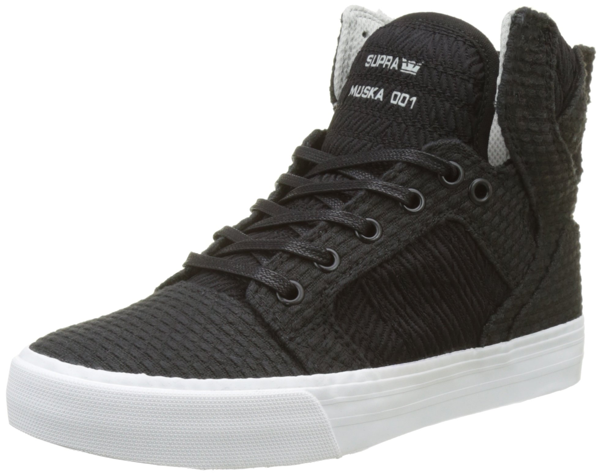 Supra Men's Skytop 2017 Shoes Size 5.5 Black-White/Light Grey
