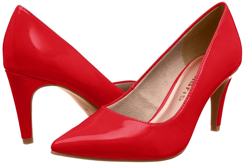 Tamaris 22447 Damen 22447 Tamaris Pumps Rot (Chili Patent) 7a5229