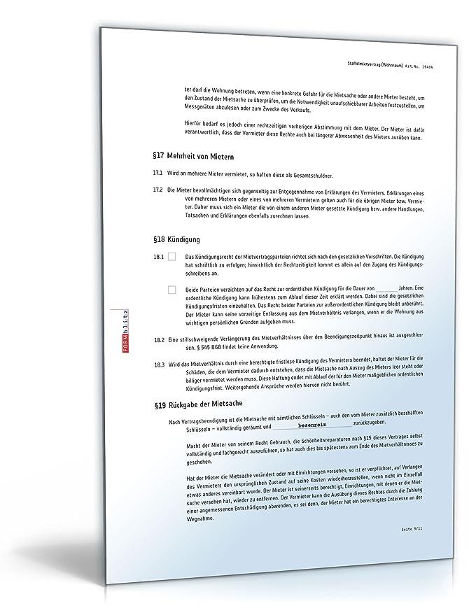 Staffelmietvertrag Wohnung Pdf Download Amazonde Software