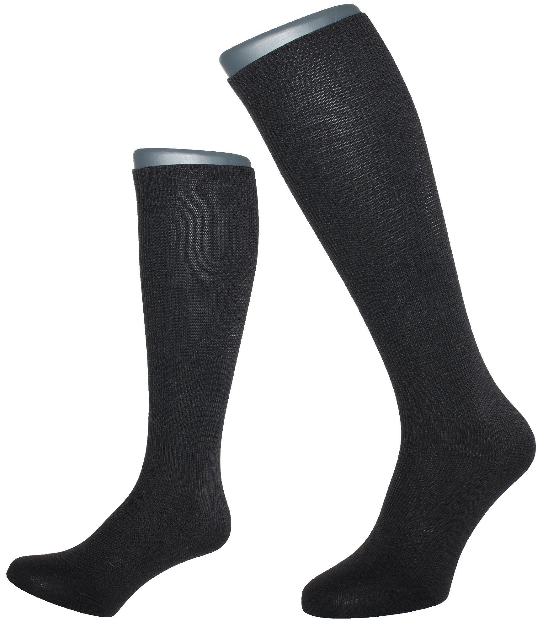 ALBERT KREUZ men's compression flight travel support knee-high socks 10,5 mmHg black EU 41-43 / US 8-10
