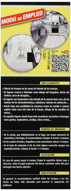Cucal Insecticide Anti Cockroach Double Trap 6 Traps Amazon Co  # Le Font Muebles