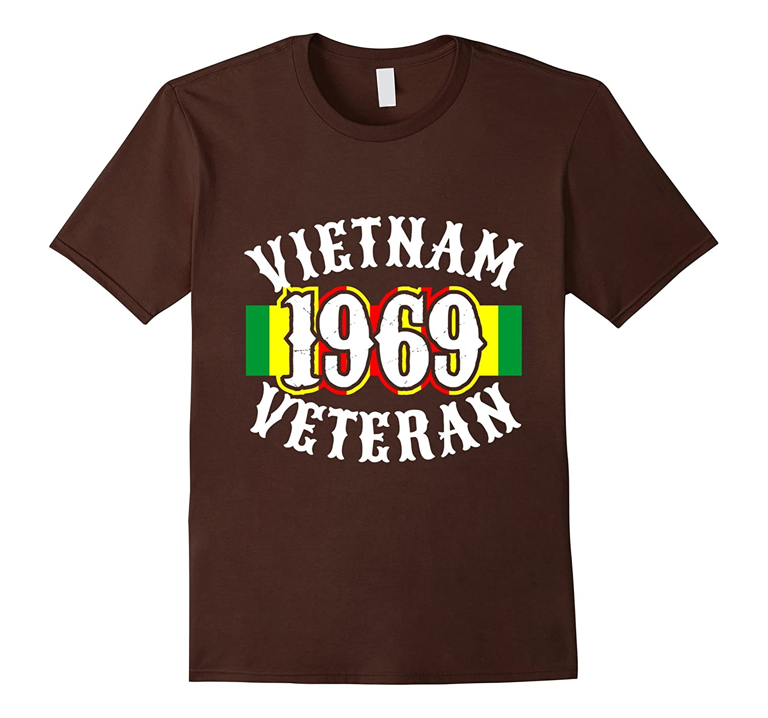 Mens Vietnam 1969 Veterans Tshirt for War Vets and Heroes-FL