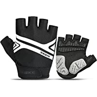 INBIKE Bike Gloves, Night Reflective 5mm Thick Pad Shockproof Breathable Palm Protection Mountain MTB DH Road Riding…