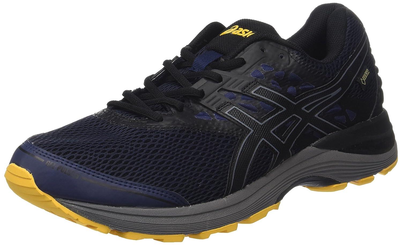 Asics Gel-Pulse 9 G-TX, Zapatillas de Running para Hombre 39.5 EU,Blau (Peacoat/Black/Gold Fusion)