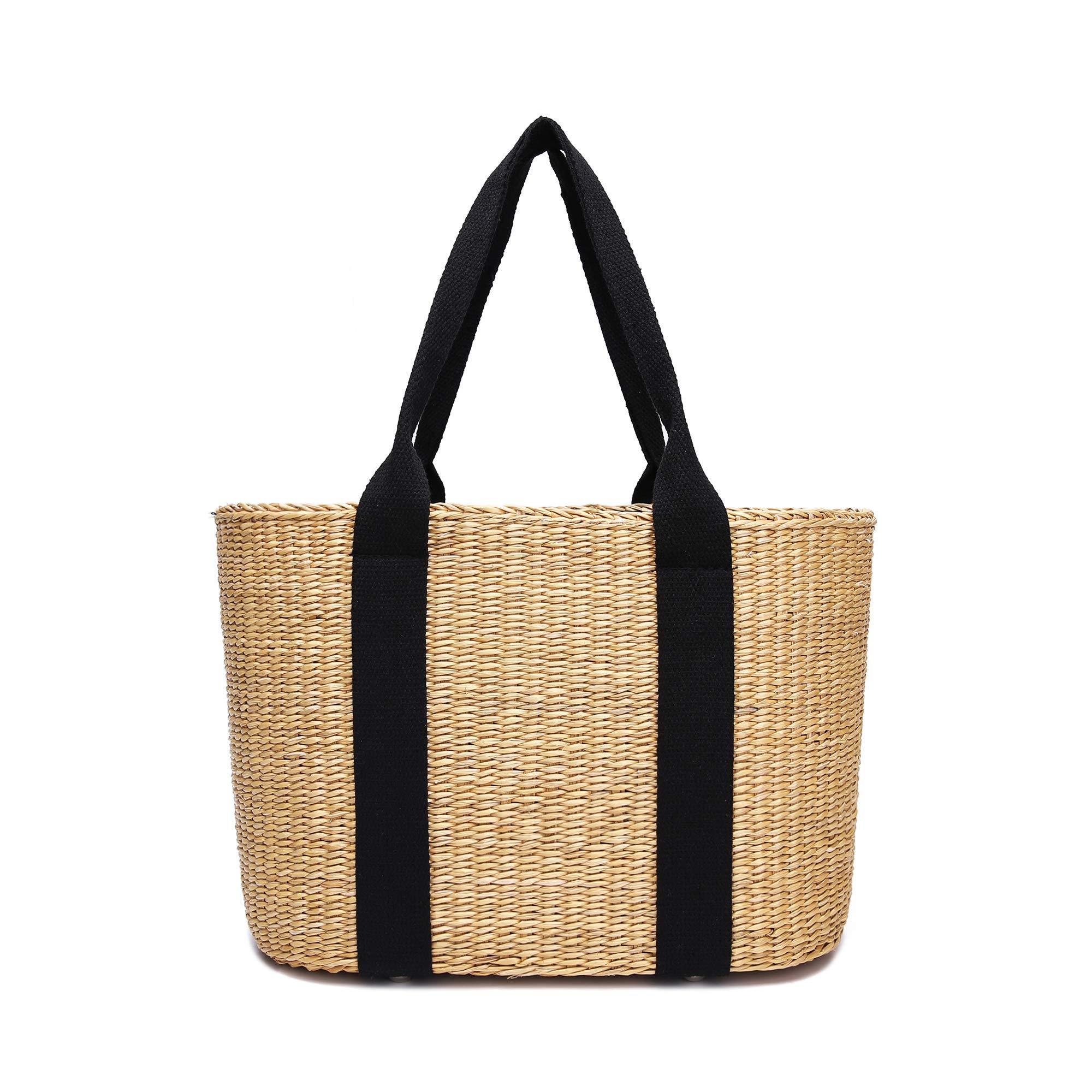 Handmade Women Beach Bag Summer Vintage Handbag Purse (Nature)
