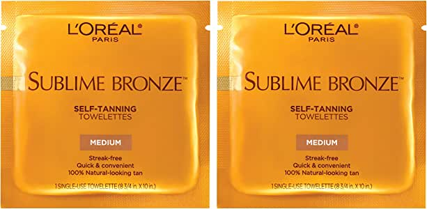 L'Oreal Paris Sublime Bronze Self-Tanning Towelettes, 2 count