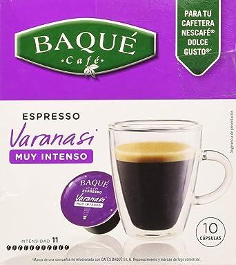 Cafés Baqué 10 Capsulas Compatibles Dolce Gusto Espresso Varanasi ...