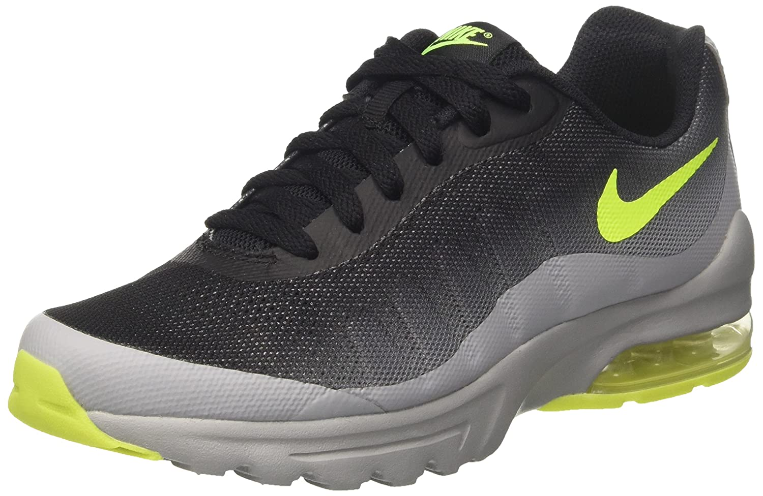sports shoes fdec1 e6330 Nike Kids Air Max Invigor (GS) Wolf Grey Volt Black Running Shoe 5. 5 Kids  US  Buy Online at Low Prices in India - Amazon.in