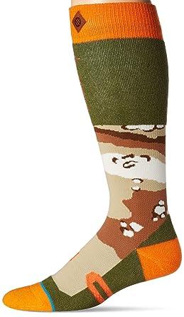 Stance Men's Regiment Snow Crew Socks, Camo, Large/X-Large