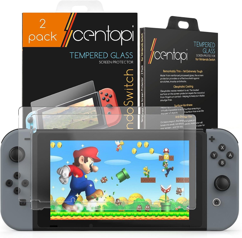 Centopi - Protector de pantalla de cristal templado para Nintendo ...
