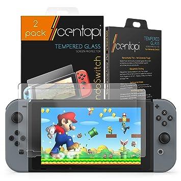 Centopi - Protector de pantalla de cristal templado para Nintendo Switch (2 unidades)