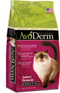 Avoderm Indoor Hairball Control Dry Cat Food, Chicken Meal Recipe, 6-Pound