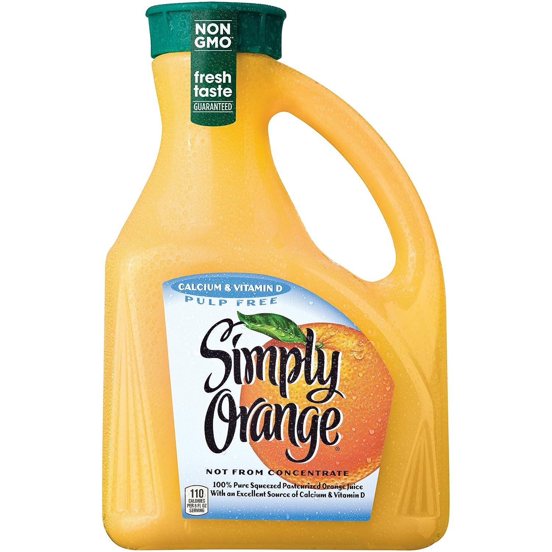 Simply Orange Juice, 89 fl oz, 100% Juice with Calcium & Vitamin D, Pulp Free