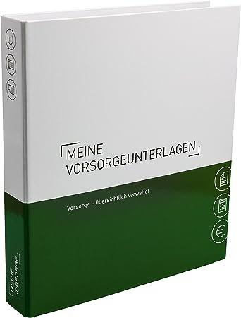 Optimale Struktur f/ür die Ablage der Vorsorgeunterlagen Themenringbuch mit Register//Trennbl/ättern Vorsorge