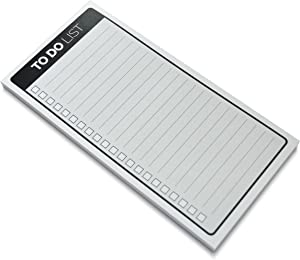 "Home Advantage to Do List Note Pad 4"" x 8"" with Magnet (50 Sheets per pad) (White)"