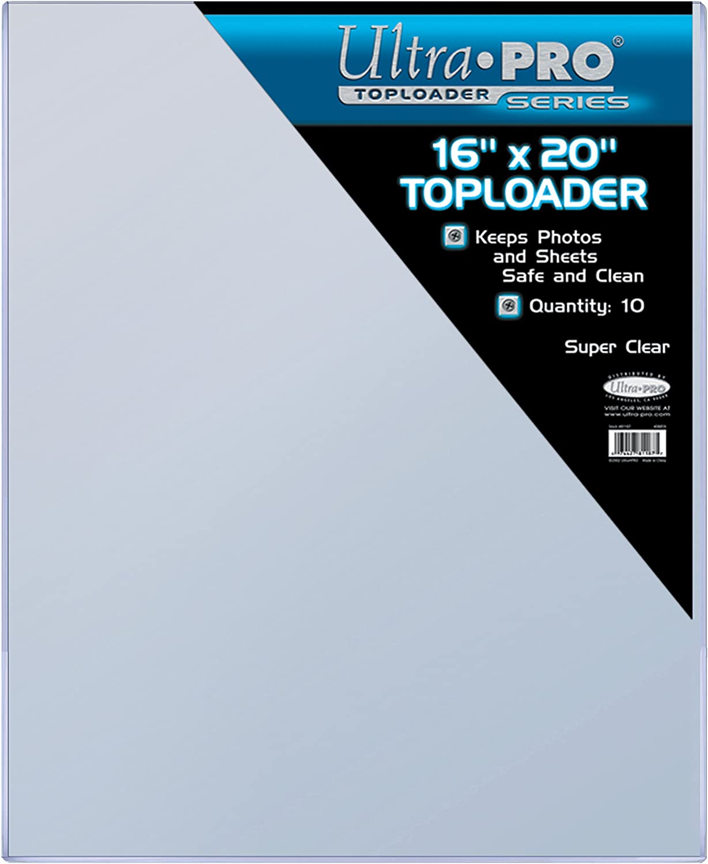 Ultra Pro 16 X 20 Toploader 10ct