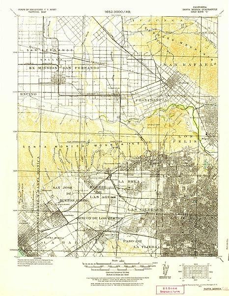 Amazon.com: YellowMaps Santa Monica CA topo map, 1:62500 ...