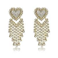 Jertom 14K Gold Plated Stud Earrings Drop Dangle Long Earrings Fashion Jewelry for Women Girls