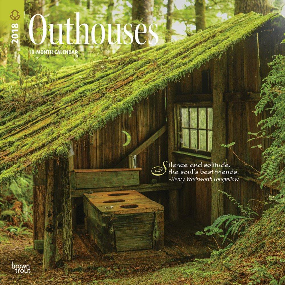 Outhouses - Toilettenhäuschen 2018 - 18-Monatskalender: Original BrownTrout-Kalender [Mehrsprachig] [Kalender] (Wall-Kalender)