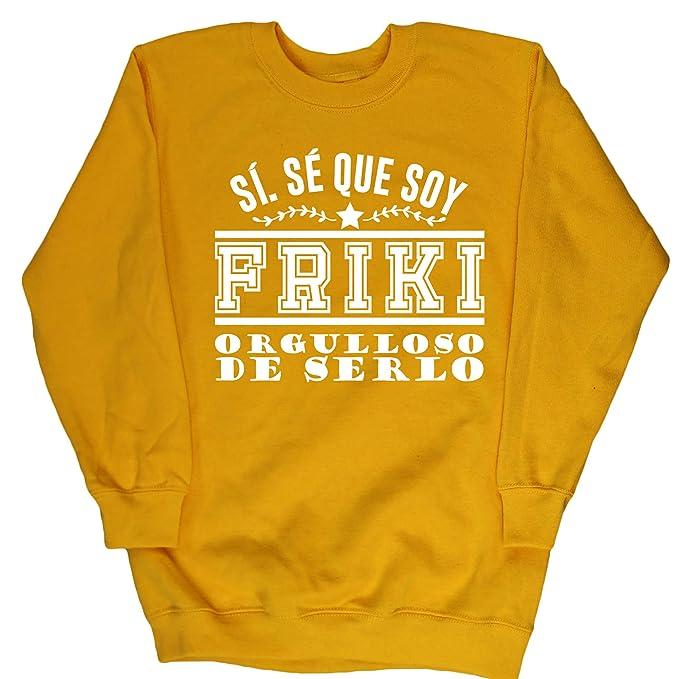 HippoWarehouse Sí. Sé Que Soy Friki Orgulloso de Serlo jersey sudadera suéter derportiva unisex niños niñas: Amazon.es: Ropa y accesorios