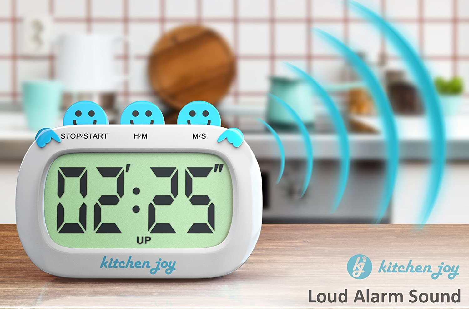 Amazon.com: Digital Kitchen Timer Kitchen Joy with Clock and Loud ...