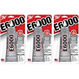 E6000 237032 Multipurpose RpYZgb Adhesive, 2 fl oz Clear (Pack of 3)