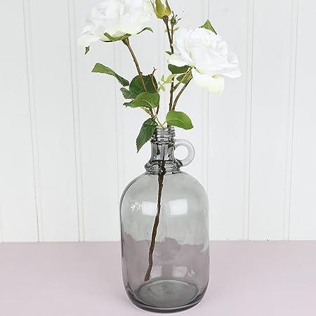 Large Grey Glass Vintage Style Bud Vase H26 X 11cm Amazon