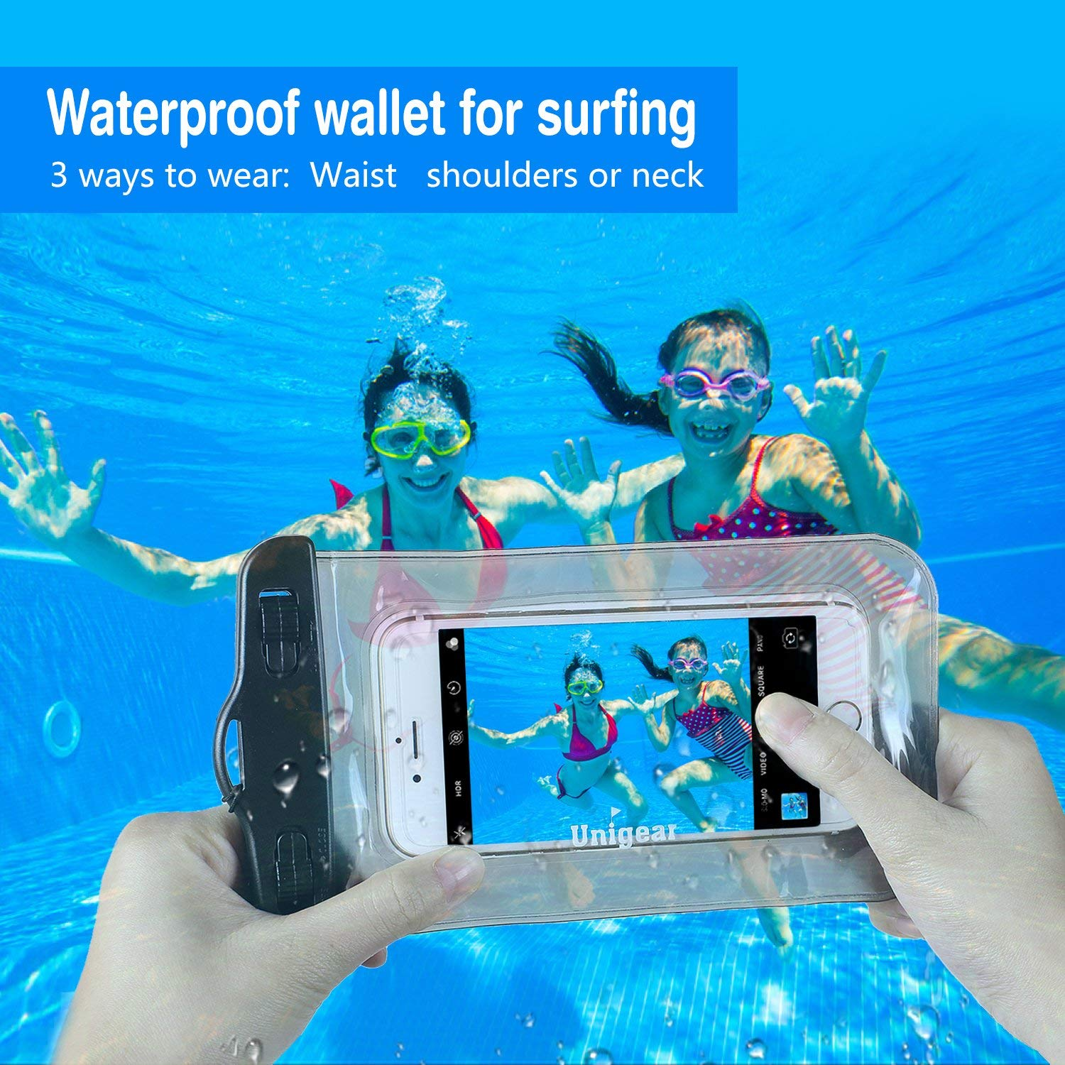 Unigear Premium SUP Leash 10 Coiled Stand Up Paddle Board Surfboard Leash Stay on Board with Waterproof Phone Case//Wallet