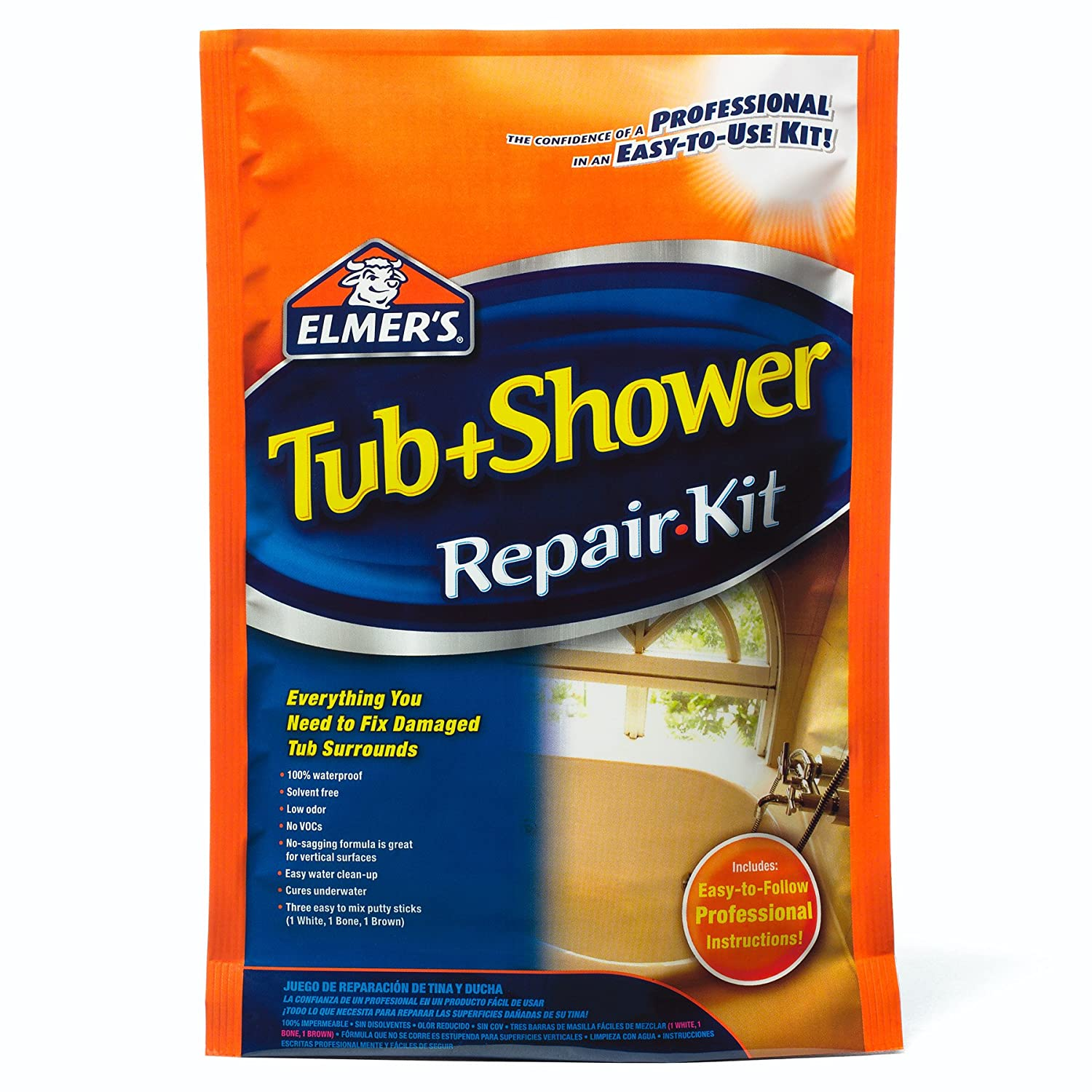 Amazon.com: Elmer\'s E786 Tub & Shower Repair Kit: Home Improvement