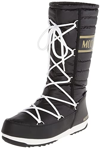 Tecnica Women's Moon W.E. Quilted Winter Fashion Boot, Black, 38 EU/7 M