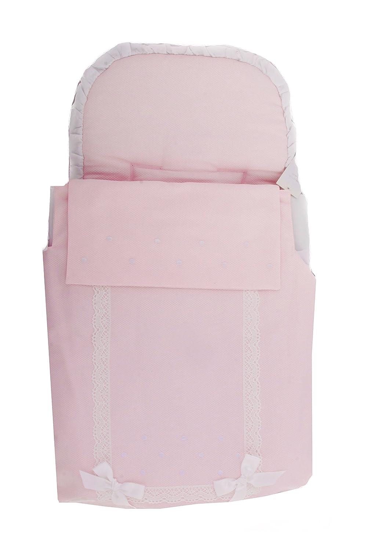 Saco Capazo + Colcha Danielstore Universal ..Carrito Bebé Color Rosa: Amazon.es: Bebé