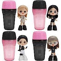 "BlackPink Micro Pop Stars, Mystery Surprise Figures 4 Pack - 3"" KPop Idol Dolls - Features Lisa, Jennie, Jisoo, and Rosé…"