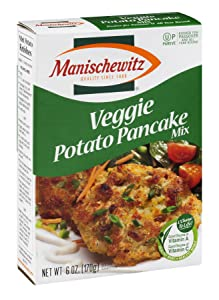 Manischewitz Veggie Potato Pancake Mix, 6-Ounce Box (Pack of 12)