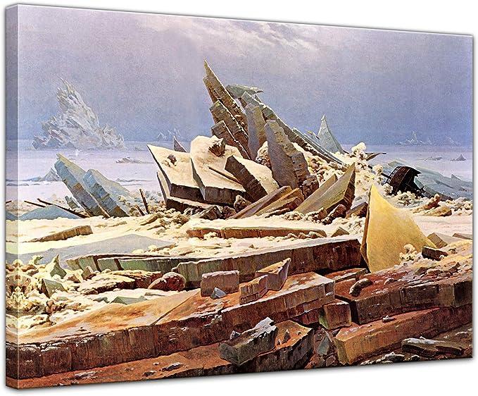 Bilderdepot24 Imagen Lienzo Foto Caspar David Friedrich - Viejos Maestros Océano Glacial 80x60 cm - Totalmente Enmarcado, Directamente del Fabricante: Amazon.es: Hogar