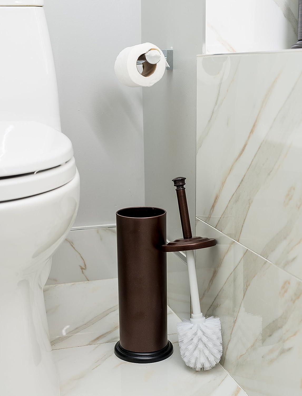 Bathroom accessories bathroom fittings towel racks toilet brush - Amazon Com Estilo Stainless Steel Toilet Brush And Holder Bronze Home Kitchen