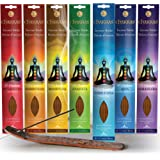 Chakras Incense Sticks, Perfect For Meditation, Reiki, Yoga, Relaxation, & Healing. Natural Hand Dipped Incense Variety…