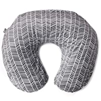 Minky Nursing Pillow Cover | Herringbone Pattern Slipcover | Best for Breastfeeding...