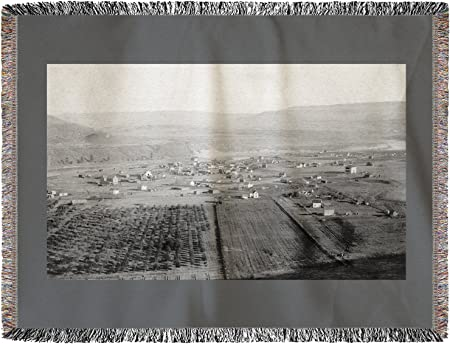 Bridgeport, Washington – antena View de la ciudad (60 x 80 ...