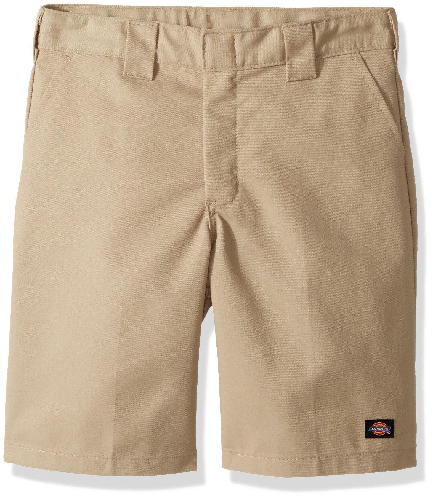 Dickies Husky Boys' Flexwaist Flat Front Short W/Extra Pocket, Desert Sand, 20H