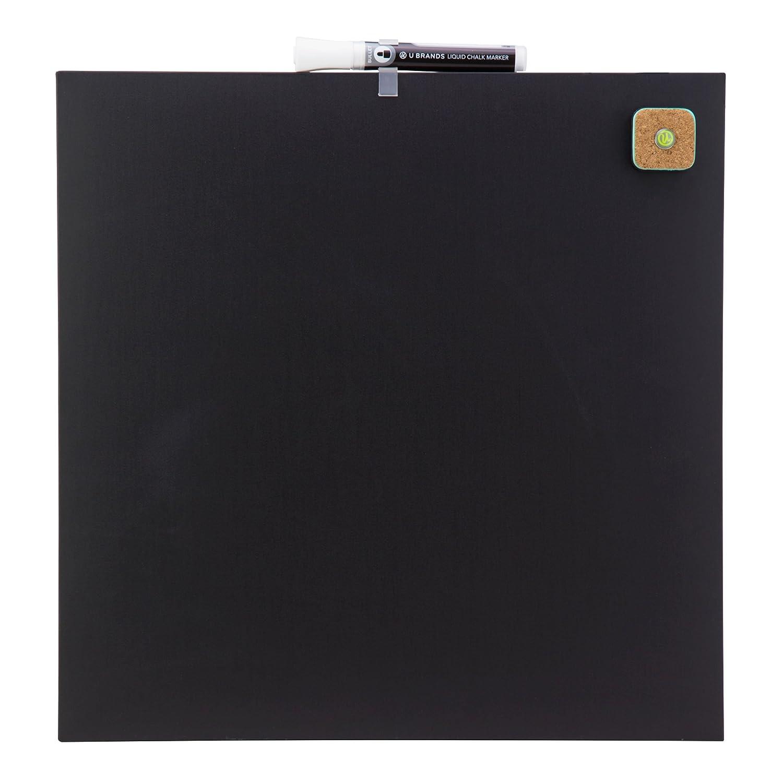 U Brands Square Frameless Magnetic Chalk Board, 14 x 14 Inches, Black (468U00-04)
