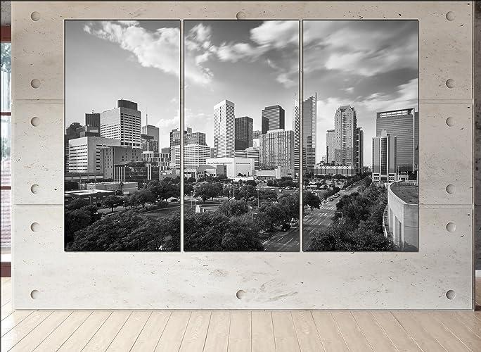 Houston, Texas Skyline Canvas Houston, Texas Wall Art Houston, Texas Print  Houston,
